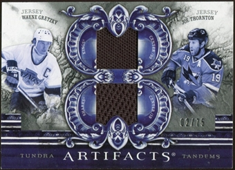 2010/11 Upper Deck Artifacts Tundra Tandems Silver #TT2SSMA Joe Thornton/Wayne Gretzky 2/75