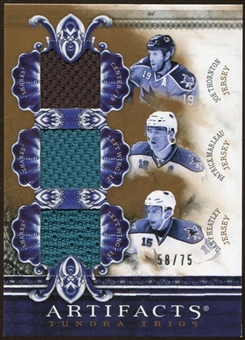 2010/11 Upper Deck Artifacts Tundra Trios Bronze #TT3SHARK Joe Thornton/Patrick Marleau/Dany Heatley /75