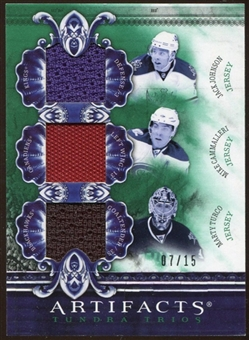 2010/11 Upper Deck Artifacts Tundra Trios Emerald #TT3MICH Jack Johnson/Mike Cammalleri/Marty Turco 7/15