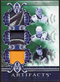 2010/11 Upper Deck Artifacts Tundra Trios Patches Emerald #TT3SABS Ryan Miller/Drew Stafford/Jason Pominville
