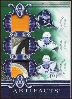 2010/11 Upper Deck Artifacts Tundra Trios Patches Emerald #TT3SBRS Derek Roy/Jason Pominville/Thomas Vanek /40