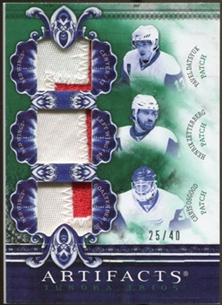 2010/11 Upper Deck Artifacts Tundra Trios Patches Emerald #TT3WING Pavel Datsyuk/Henrik Zetterberg/Chris Osgoo