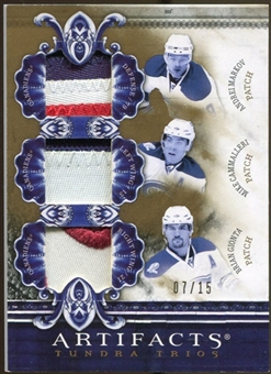 2010/11 Upper Deck Artifacts Tundra Trios Patches Gold #TT3HABS Mike Cammalleri/Andrei Markov/Brian Gionta /15
