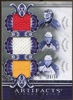 2010/11 Upper Deck Artifacts Tundra Trios Silver #TT3PNTH Tomas Vokoun/David Booth/Michael Frolik 23/50