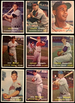 1957 Topps Baseball Starter Set (140 Cards) EX-MT