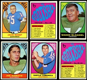 1967 Topps Football Complete Set (EX+)