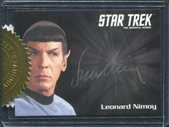 Star Trek: The Original Series Heroes & Villains Leonard Nimoy (Spock) Silver Signature