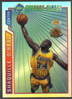 1996/97 Topps #M12 Shaquille O'Neal Mystery Finest Bordered Refractors