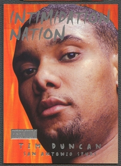 1998/99 SkyBox Premium #10 Tim Duncan Intimidation Nation