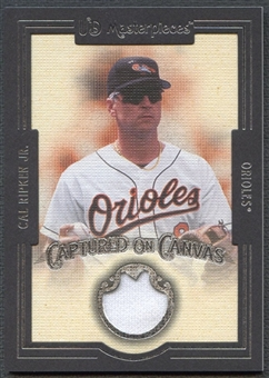 2007 UD Masterpieces #RI Cal Ripken Jr. Captured on Canvas Jersey