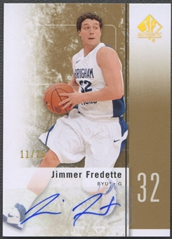 2011/12 SP Authentic #17 Jimmer Fredette Gold Auto #11/25