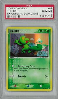 Pokemon EX Crystal Guardians Single Treecko PSA 10 - **22972023**