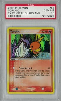 Pokemon EX Crystal Guadians Single Torchic 66/100 PSA 10 - **22972027**