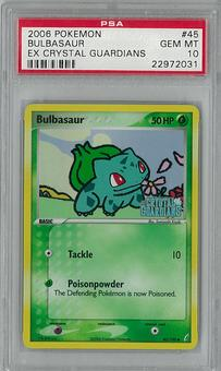 Pokemon EX Crystal Guardians Single Bulbasaur 45/100 PSA 10 - **22972031**