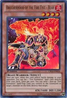 Yu-Gi-Oh Cosmo Blazer Single Brotherhood of the Fire Fist - Bear Ultra Rare
