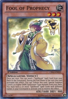 Yu-Gi-Oh Cosmo Blazer Single Fool of Prophecy Super Rare