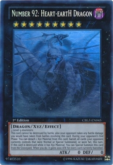 Yu-Gi-Oh Cosmo Blazer Single Number 92: Heart-eartH Dragon Ghost Rare