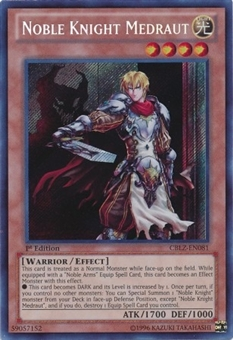 Yu-Gi-Oh Cosmo Blazer Single Noble Knight Medraut Secret Rare