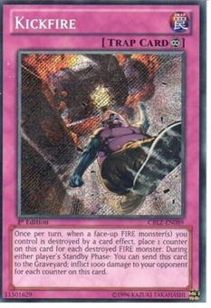 Yu-Gi-Oh Cosmo Blazer Single Kickfire Secret Rare