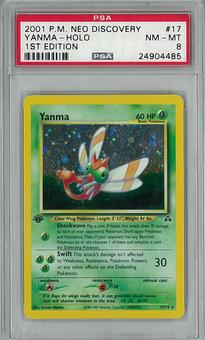 Pokemon Neo Discovery 1st Edition Single Yanma 17/75 PSA 8 - **24904485**