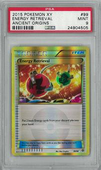 Pokemon Ancient Origins Single Energy Retrieval PSA 9 - **24904505**