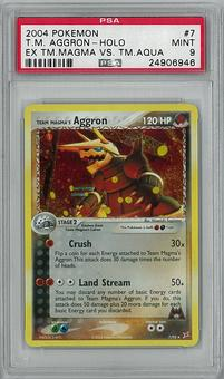 Pokemon Ex Team Magma VS Aqua Single Aggron 7/95 PSA 9 - **24906946**