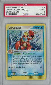 Pokemon EX Dragon Single Crawdaunt 3/97 PSA 9 - **24907004**