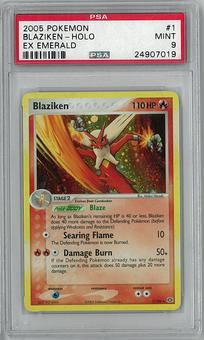 Pokemon EX Emerald Single Blaziken 1/106 PSA 9 - **24907019**