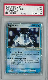 Pokemon EX Emerald Single Regice EX 98/106 PSA 9 - **24952125**