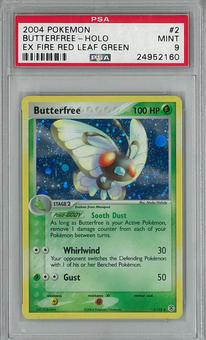 Pokemon EX Fire Red Leaf Green Single Butterfree 2/112 PSA 9 - **24952160**