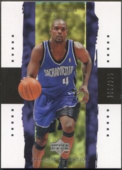 2003/04 Exquisite Collection #34 Chris Webber #168/225