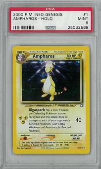 Pokemon Neo Genesis Single Ampharos 1/111 PSA 9 - **25032568**