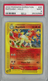 Pokemon Expedition Single Rapadish 26/165 PSA 9 - **25032569**
