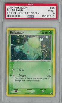 Pokemon EX Fire Red Leaf Green Single Bulbasaur 55/112 PSA 9 - **25032612**