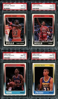 1988/89 Fleer Basketball Set (With Stickers) PSA (5 9's - 127 10's)
