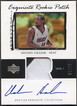 2003/04 Exquisite Collection #43 Udonis Haslem Rookie Patch Auto #89/99