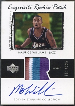 2003/04 Exquisite Collection #44 Mo Williams Rookie Patch Auto #151/225