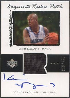 2003/04 Exquisite Collection #45 Keith Bogans Rookie Patch Auto #219/225