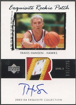 2003/04 Exquisite Collection #46 Travis Hansen Rookie Patch Auto #175/225