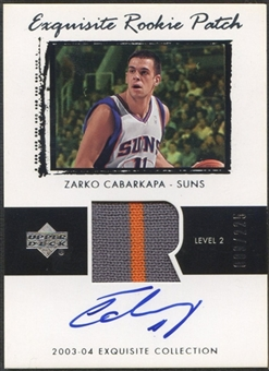 2003/04 Exquisite Collection #49 Zarko Cabarkapa Rookie Patch Auto #089/225