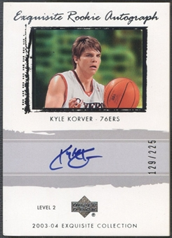 2003/04 Exquisite Collection #50 Kyle Korver Rookie Auto #129/225