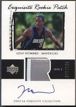2003/04 Exquisite Collection #53 Josh Howard Rookie Patch Auto #023/225