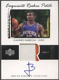 2003/04 Exquisite Collection #54 Leandro Barbosa Rookie Patch Auto #030/225