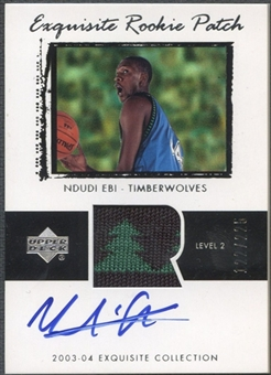 2003/04 Exquisite Collection #56 Ndudi Ebi Rookie Patch Auto #122/225