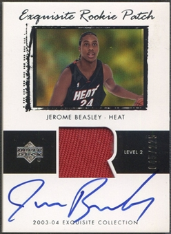 2003/04 Exquisite Collection #57 Jerome Beasley Rookie Patch Auto #045/225