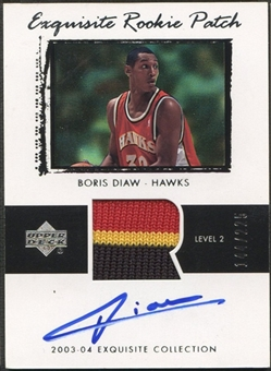 2003/04 Exquisite Collection #61 Boris Diaw Rookie Patch Auto #144/225
