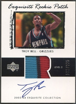 2003/04 Exquisite Collection #66 Troy Bell Rookie Patch Auto #162/225