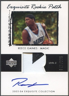2003/04 Exquisite Collection #67 Reece Gaines Rookie Patch Auto #046/225