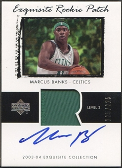 2003/04 Exquisite Collection #69 Marcus Banks Rookie Patch Auto #125/225