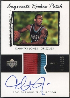 2003/04 Exquisite Collection #70 Dahntay Jones Rookie Patch Auto #052/225